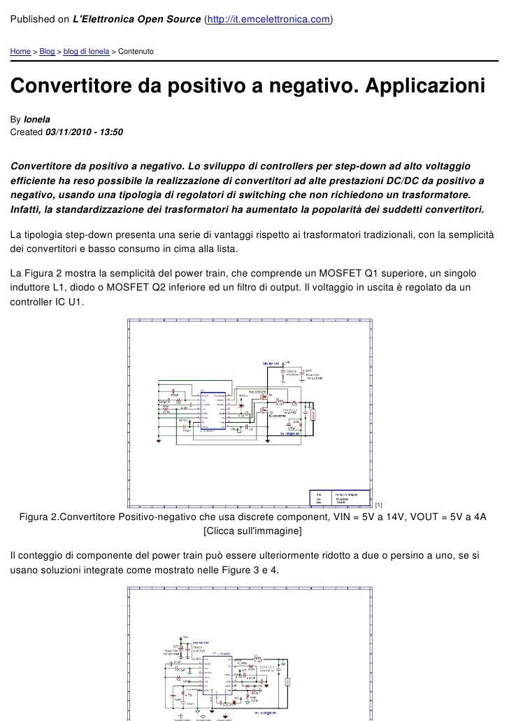 Published on LElettronica Open Source (http://it.emcelettronica.com)Home > Blog > blog di Ionela > ContenutoConvertitore d...