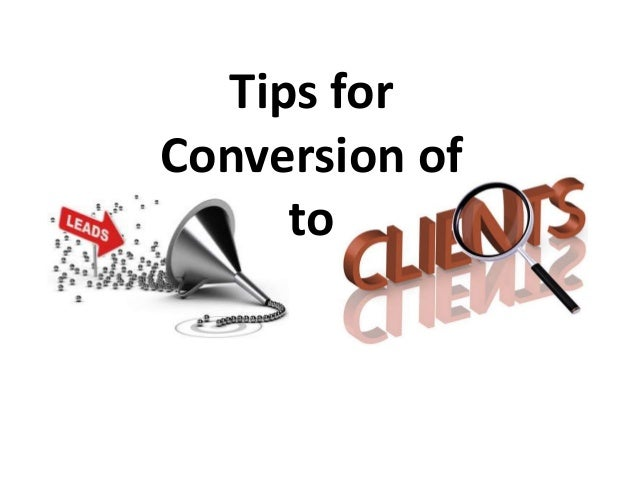 Tips for Conversion of to