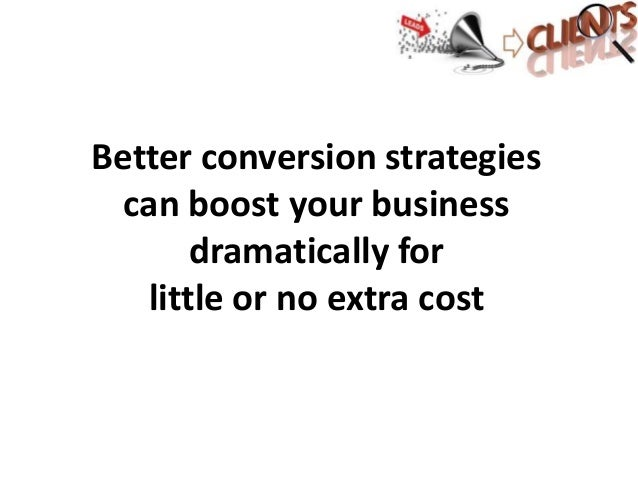 Convert leads to clients Slide 2