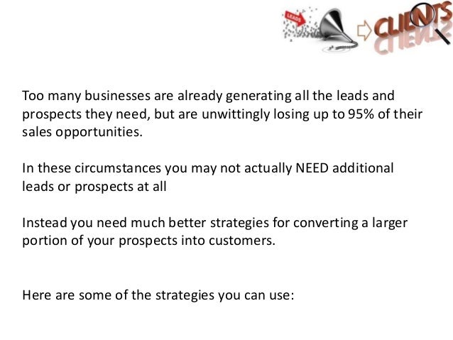 Convert leads to clients Slide 3