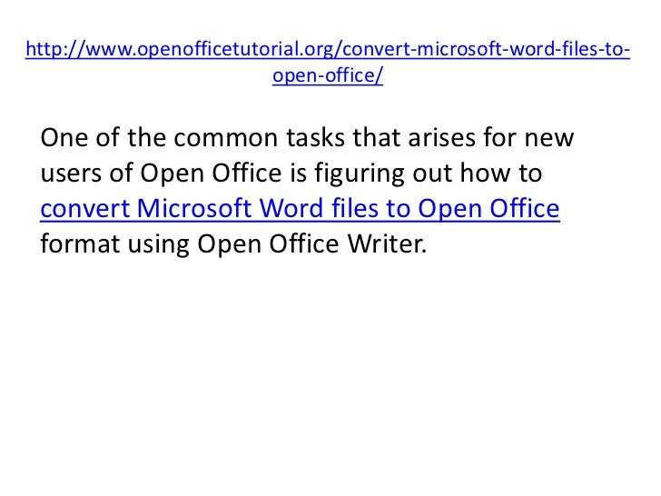 convert open office to word
