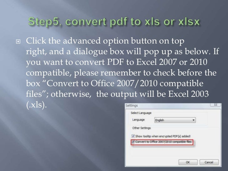 small pdf to excel converter