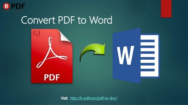 why convert pdf to word