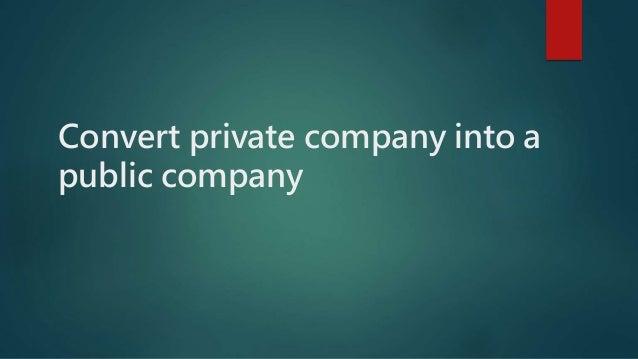 Convert private company into a public company