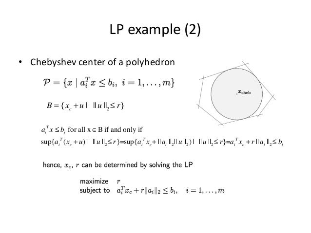 Convex optimization methods