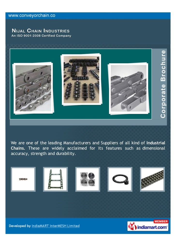Nijal Chain Industries, Ahmedabad, Roller Chains
