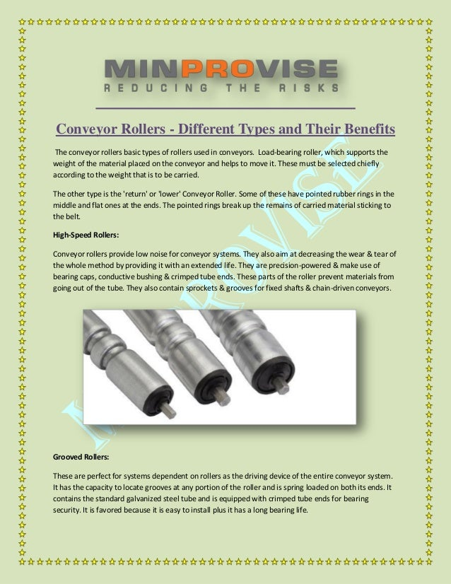 Conveyor Rollers - Different Types and Their Benefits