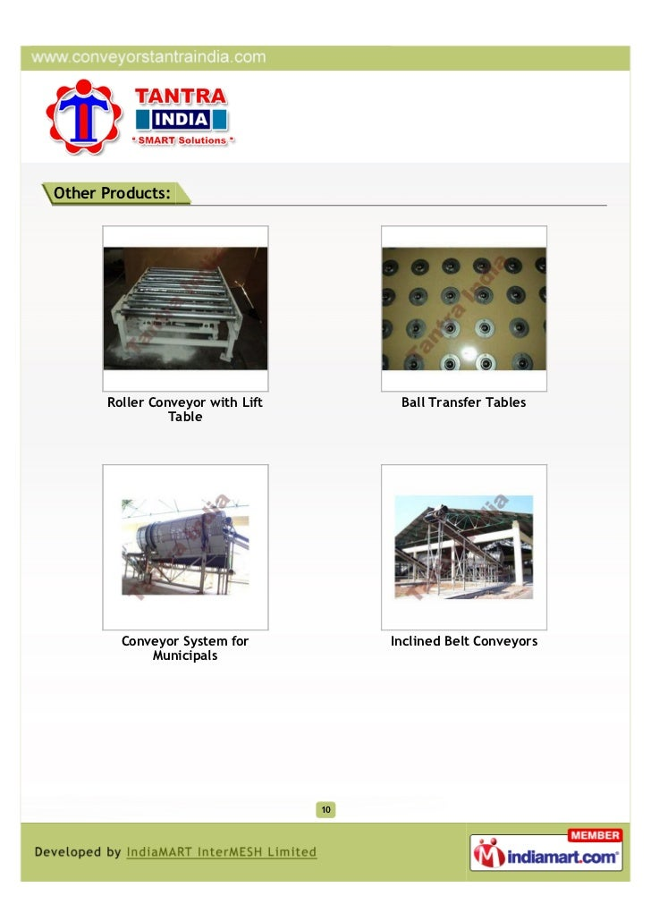 Other Products:      Roller Conveyor with Lift         Ball Transfer Tables                Table        Conveyor System fo...