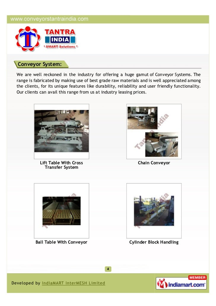Conveyor System:We are well reckoned in the industry for offering a huge gamut of Conveyor Systems. Therange is fabricated...