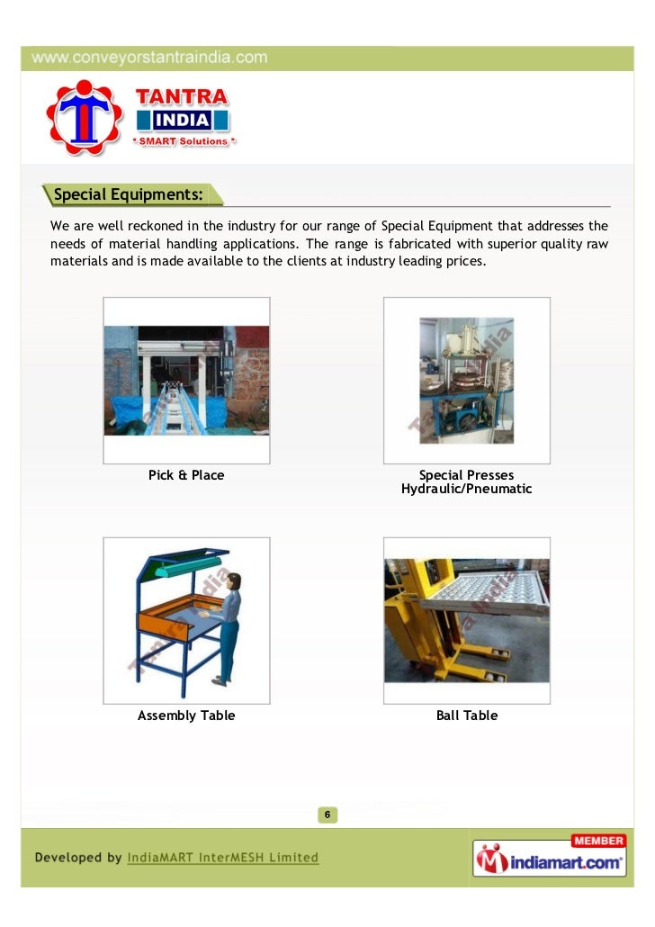 Special Equipments:We are well reckoned in the industry for our range of Special Equipment that addresses theneeds of mate...