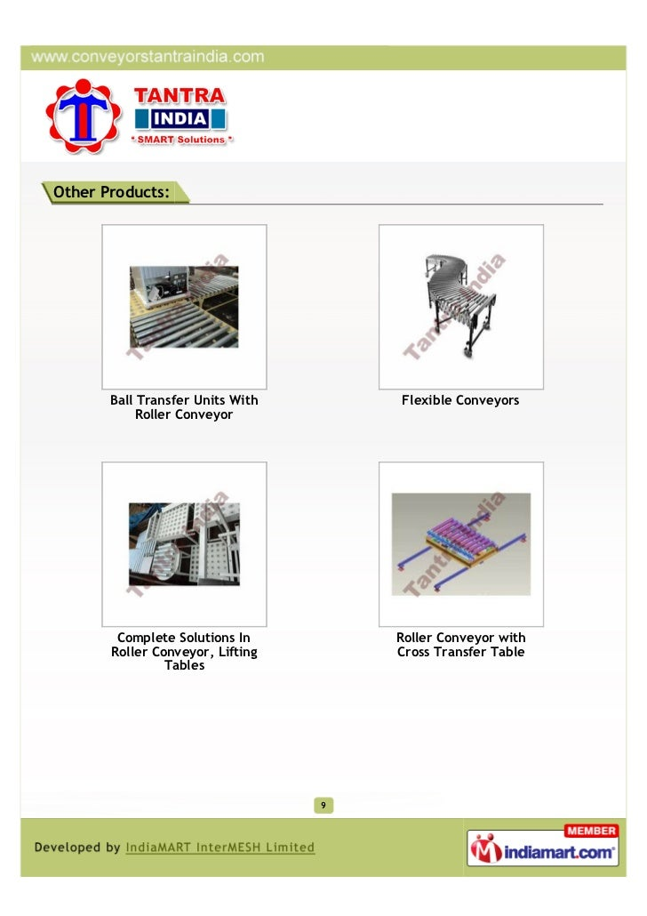 Other Products:       Ball Transfer Units With       Flexible Conveyors            Roller Conveyor        Complete Solutio...