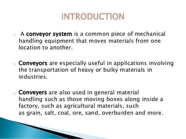 Conveyor System Ppt