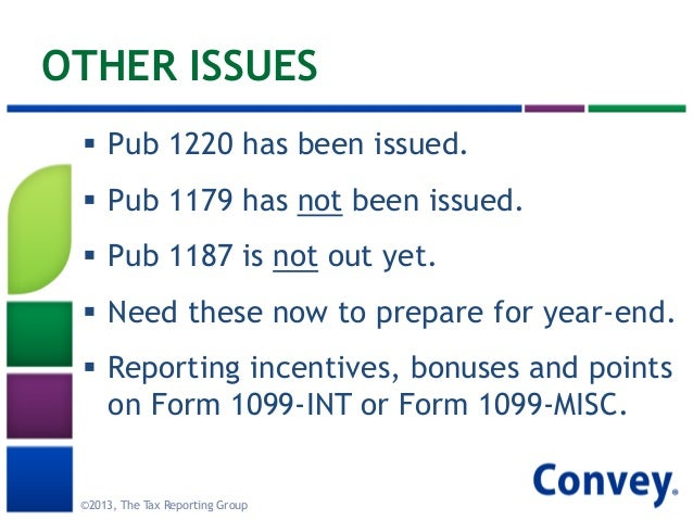 2013 Tax Reporting Updates