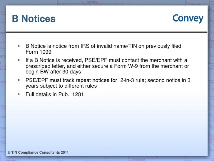 Convey Webinar New Form 1099 K Requirements 08.24.2011
