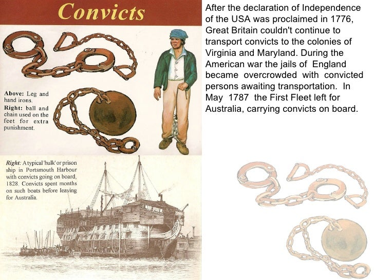After the declaration of Independence of the USA was proclaimed in 1776, Great Britain couldn't continue to transport conv...