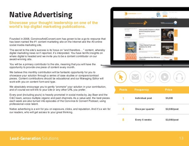 Native Advertising Showcase your thought leadership on one of the world's top digital marketing publications. Founded in 2...