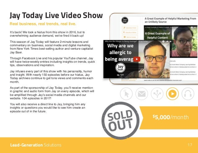 Jay Today Live Video Show $5,000/month Real business, real trends, real live. It's back! We took a hiatus from this show i...