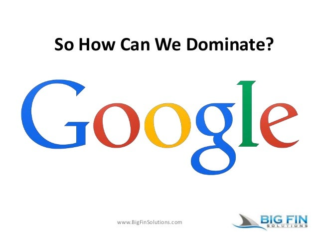 www.BigFinSolutions.com So How Can We Dominate?