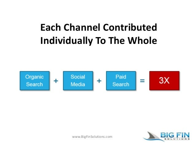 www.BigFinSolutions.com Each Channel Contributed Individually To The Whole