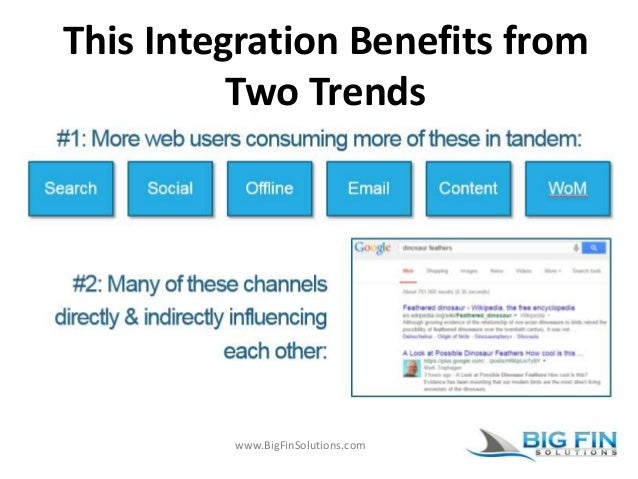 www.BigFinSolutions.com This Integration Benefits from Two Trends