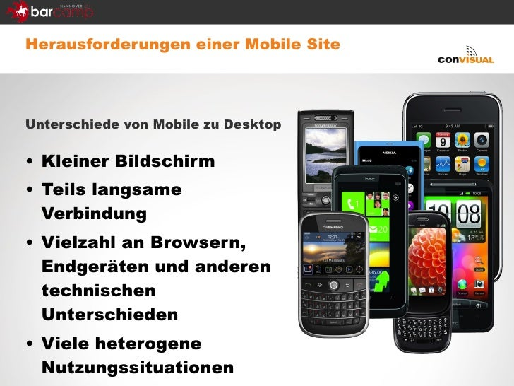 <ul><li>Herausforderungen einer Mobile Site </li></ul><ul><li>Unterschiede von Mobile zu Desktop </li></ul><ul><li>Kleiner...