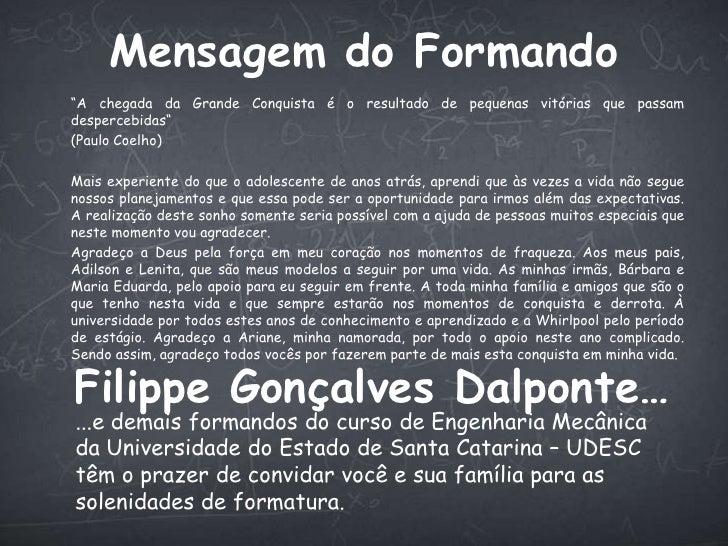 Convite Formatura Filippe