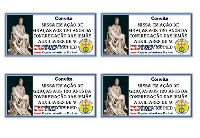 Convite                               Convite      Missa em Ação de                      Missa em Ação deGraças aos 120 an...
