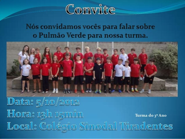 Turma do 3º Ano
