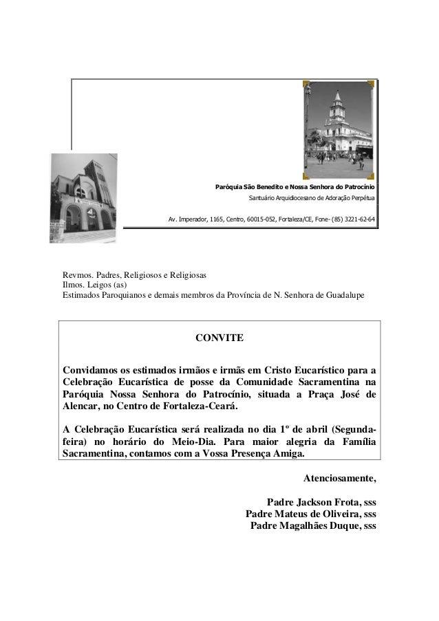 Paróquia São Benedito e Nossa Senhora do Patrocínio                                                        Santuário Arqui...