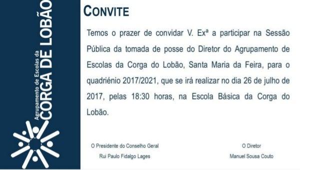 Convite Tomada de Posse