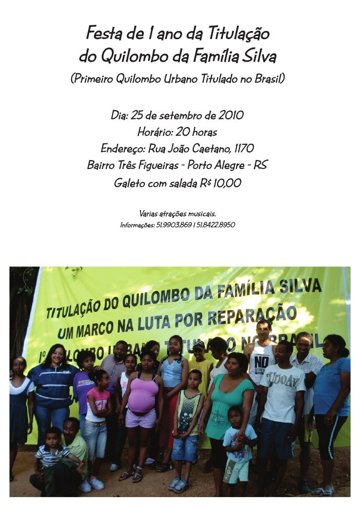 Convite familia Silva