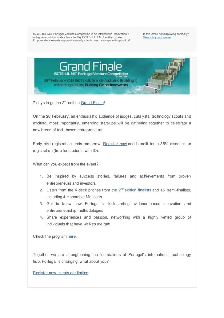ISCTE-IUL MIT-Portugal Venture Competition is an international innovation &   Is this email not displaying correctly?entre...