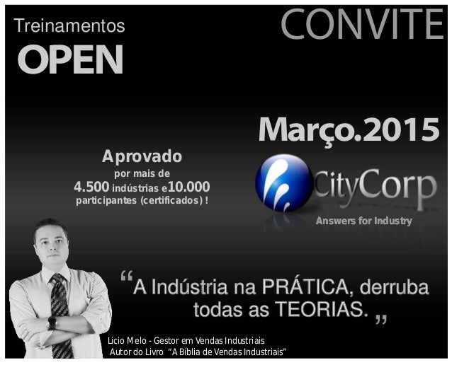 Answers for Industry CONVITE OPEN Treinamentos Março.2015 Answers for IndustryAnswers for Industry A Indústria na PRÁTICA,...