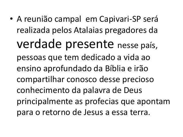 Convite para a reunião campal Capivari-sp  outubro 2016 Slide 2