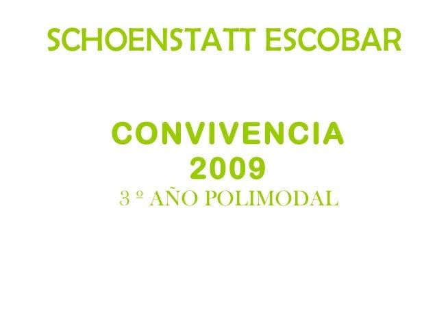 CONVIVENCIA 2009 3 º AÑO POLIMODAL SCHOENSTATT ESCOBAR