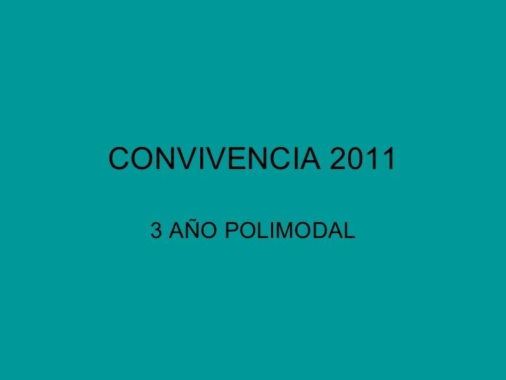 CONVIVENCIA 2011 3 AÑO POLIMODAL