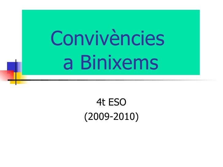 Convivències  a Binixems 4t ESO (2009-2010)