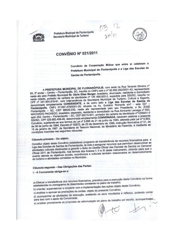 Convênio PMF 021/2011