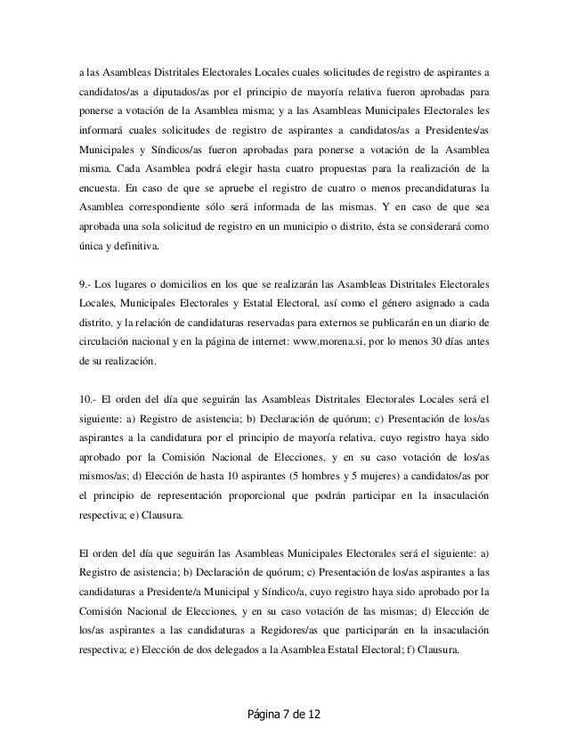 Página 7 de 12 a las Asambleas Distritales Electorales Locales cuales solicitudes de registro de aspirantes a candidatos/a...