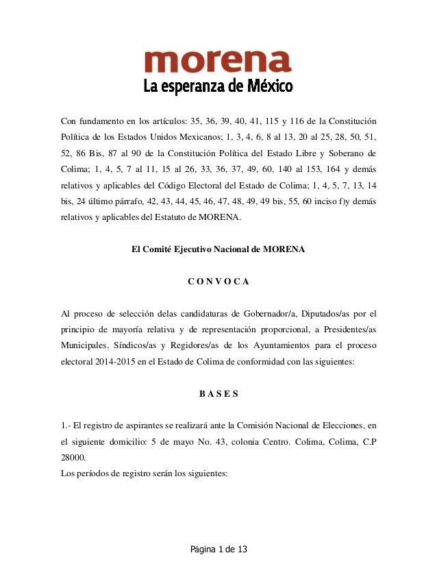 Página 1 de 13 Con fundamento en los artículos: 35, 36, 39, 40, 41, 115 y 116 de la Constitución Política de los Estados U...