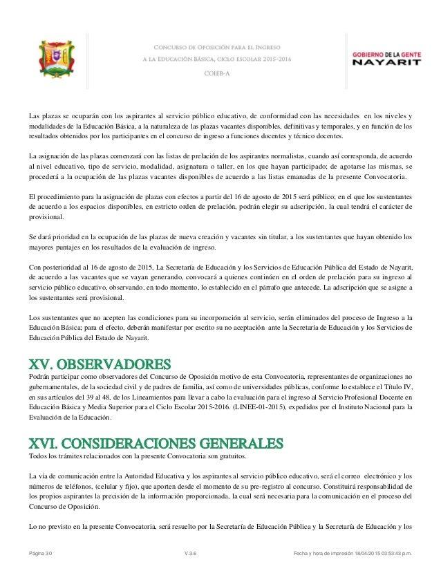 Convocatoria n 02 plazas vacantes docentes 2016 for Convocatoria concurso docente 2016