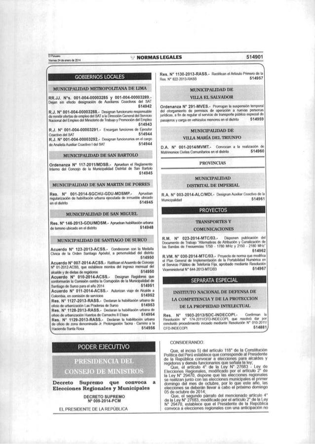 Convocatoria a elecciones 2014