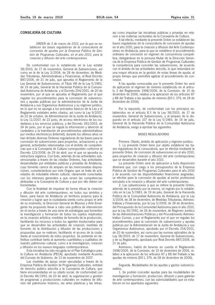 Sevilla, 19 de marzo 2010                                    BOJA núm. 54                                          Página ...