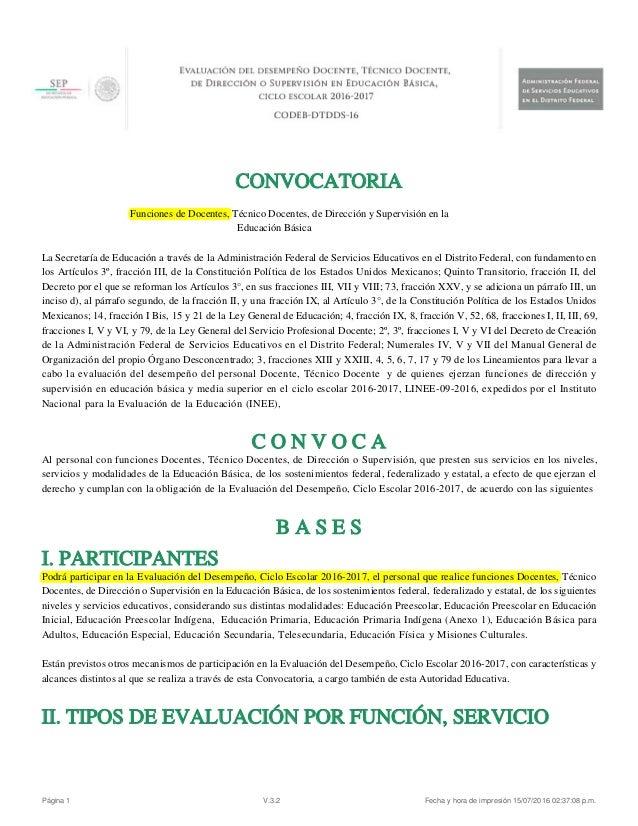 convocatoria basica abierta desempe o docente 2016 2017