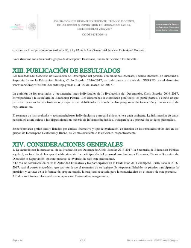 Convocatoria basica abierta desempe o docente 2016 2017 for Convocatoria de docentes 2016