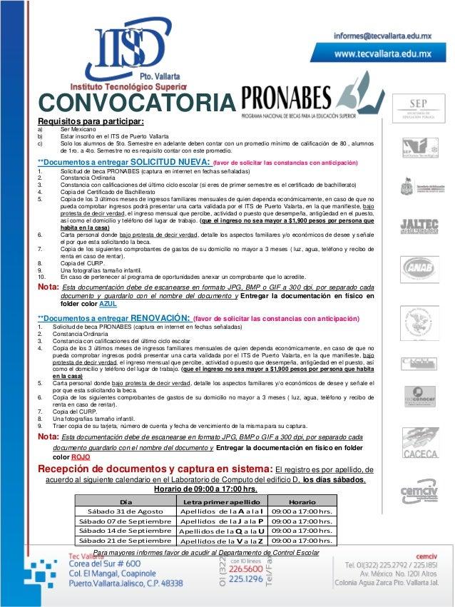 Requisitos para participar: a) Ser Mexicano b) Estar inscrito en el ITS de Puerto Vallarta c) Solo los alumnos de 5to. Sem...