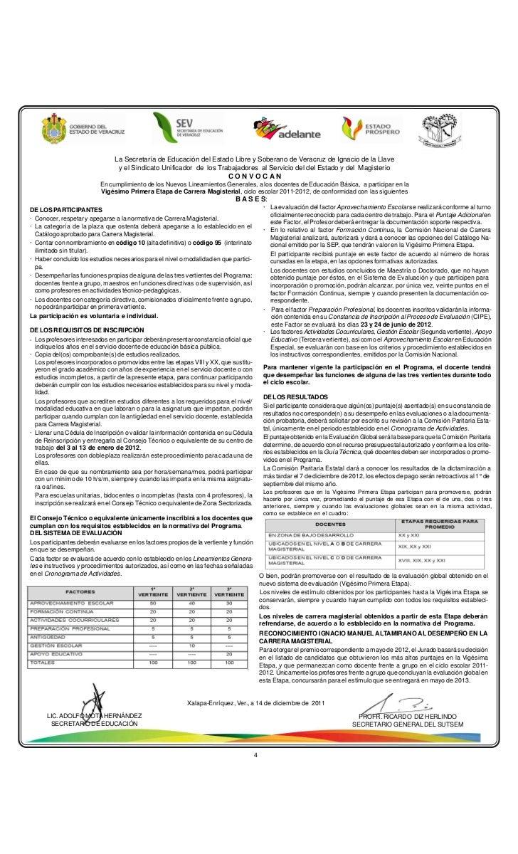 La Secretaría de Educación del Estado Libre y Soberano de Veracruz de Ignacio de la Llave                                y...