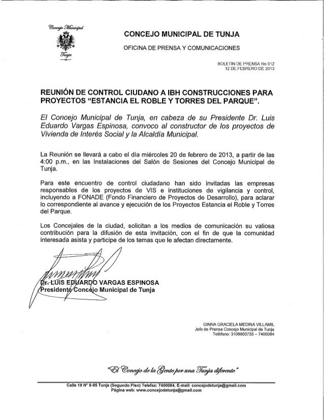 Convocatoria Concejo municipal