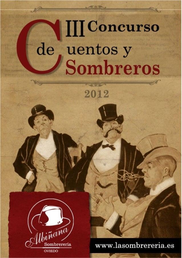 """III Concurso de Microrrelatos """"Cuentos y Sombreros"""""""