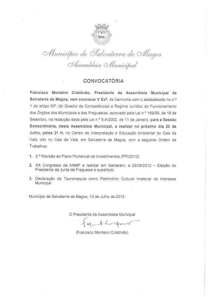 Salvaterra de Magos - Assembleia Municipal